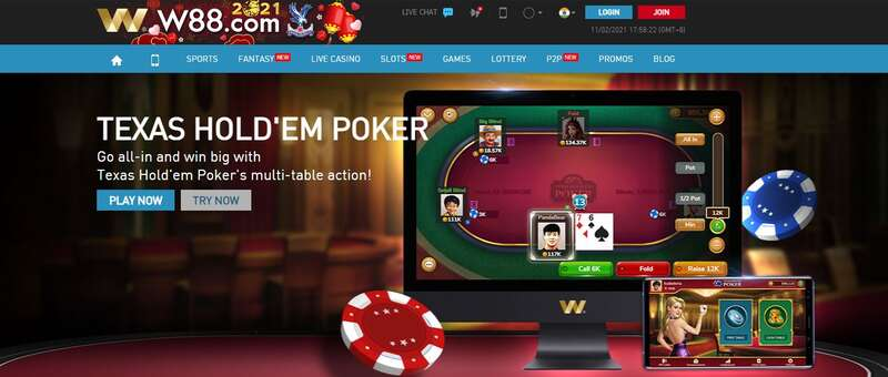 Show Your Gaming Skills, Play W88 Poker