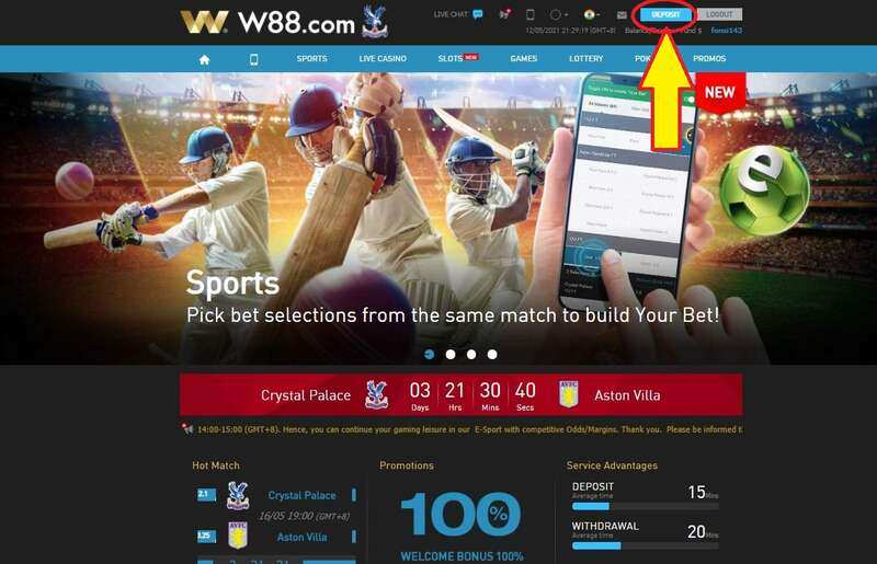 How to Deposit Bookie88 - W88 Sports and Casino