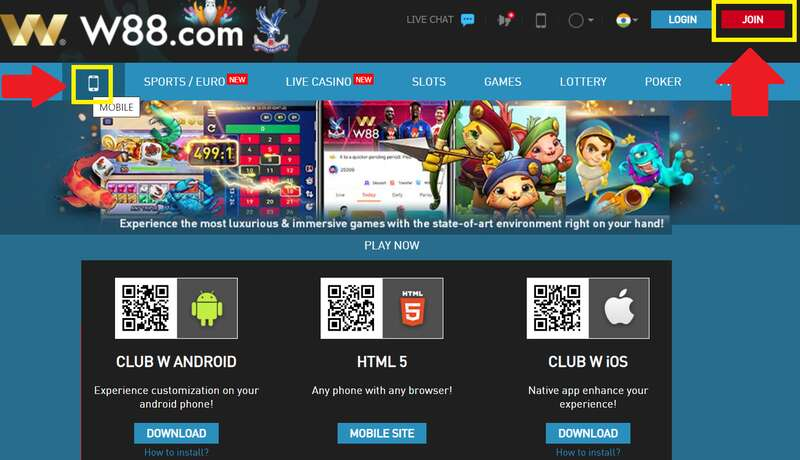 Download W88 Apps for On-the-Go Online Gaming
